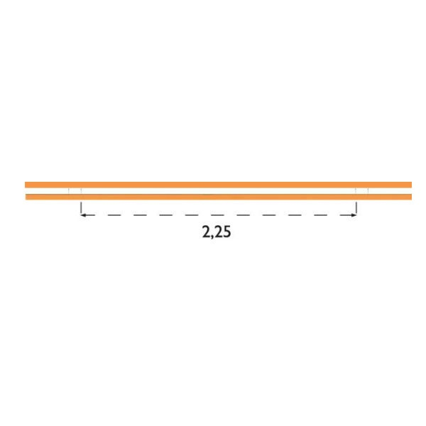 Parkeringsräcken | Parkeringsräcke dubbelt för platsgjutning 45x190mm