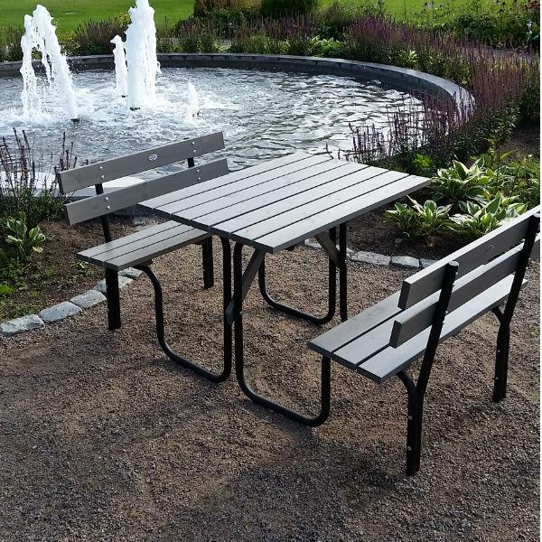Picknickbord & Parkbord | Steel Picknickbord 100 cm 4 pers Grå