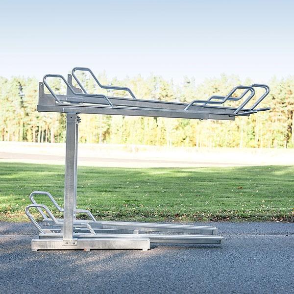 Tvåvånings Cykelställ | 2-vånings cykelställ Tornet Pro med utdragbar skena & gasfjäder
