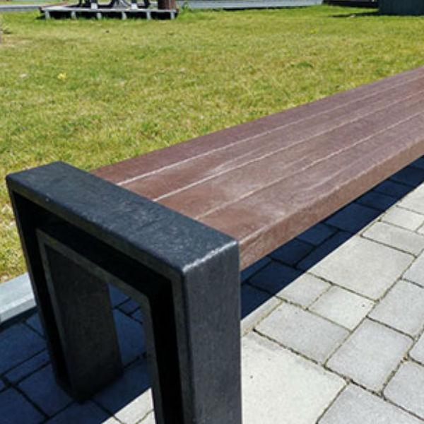 Parkbänkar   Tillbyggnadsdel till bänk Hyacint 185 cm - underhållsfritt