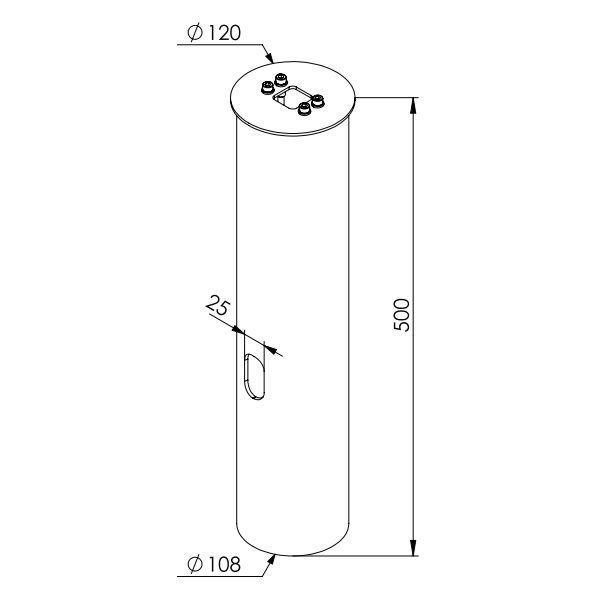 Ljuspollare | Adapter för betongfundament Pollare