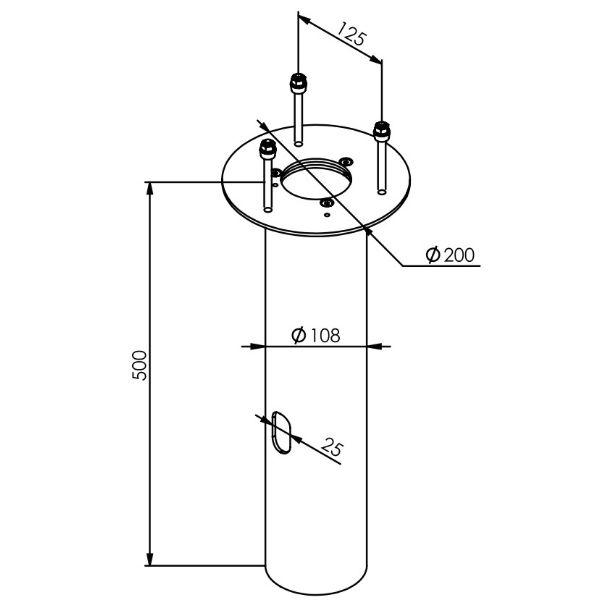 Ljuspollare | Adapter för betongfundament till Ljuspollare