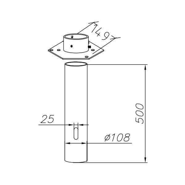 Ljuspollare | Adapter för betongfundament