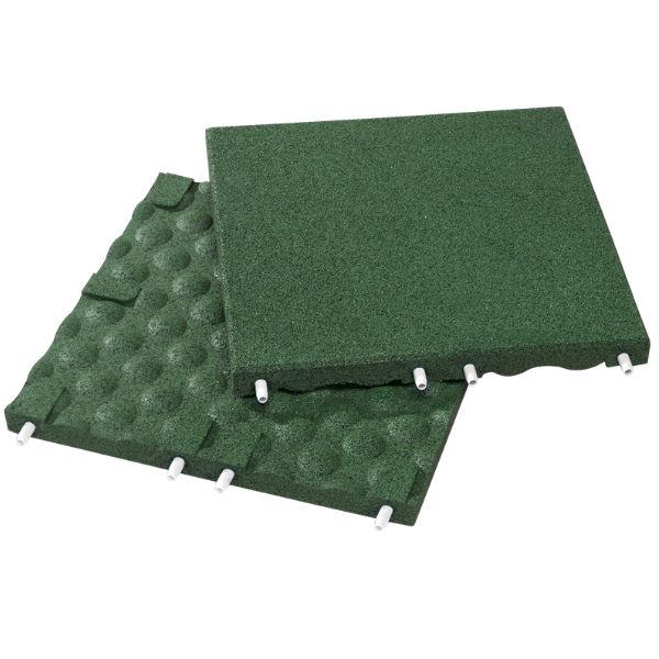 Fallskyddsplattor   Fallskydd grön 30-90 mm
