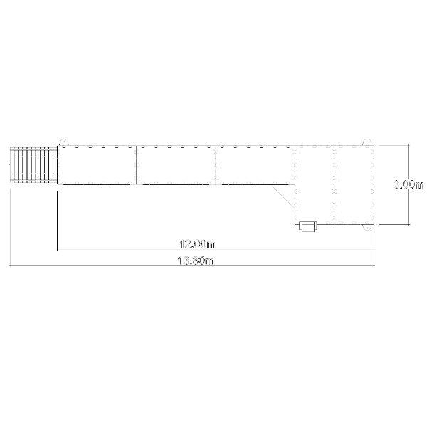 Flytbryggor | Badbrygga EZ 13,8 meter