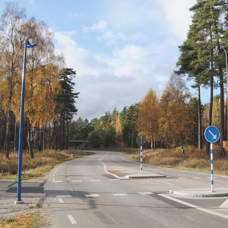 Belysningsstolpar   Belysningsstolpe Streetmast Trafikblå