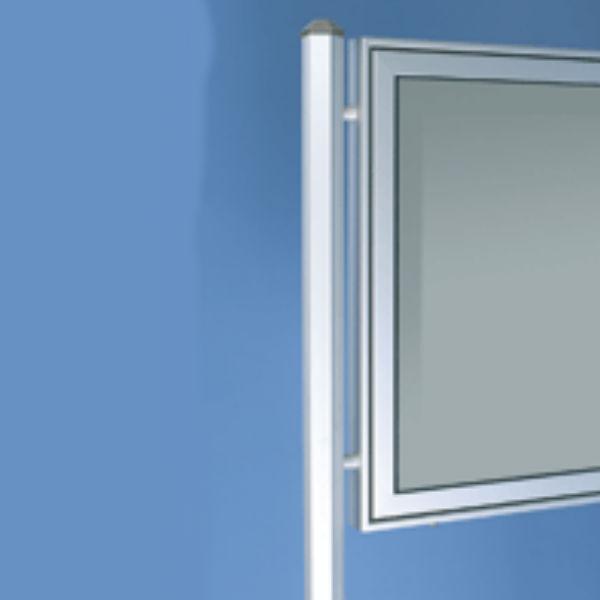Informationstavlor | 2 st Sexkants stolpar till modell TN för nedgjutning