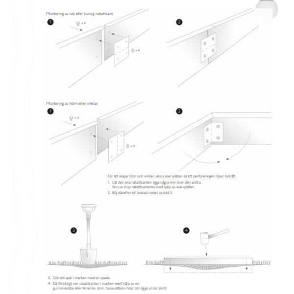 Rabattkanter & Trädringar | Rabattkant Hög i Corten 2mm