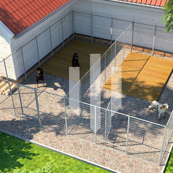 Hundgårdar   Hundgård Fido 2 x 26 m2
