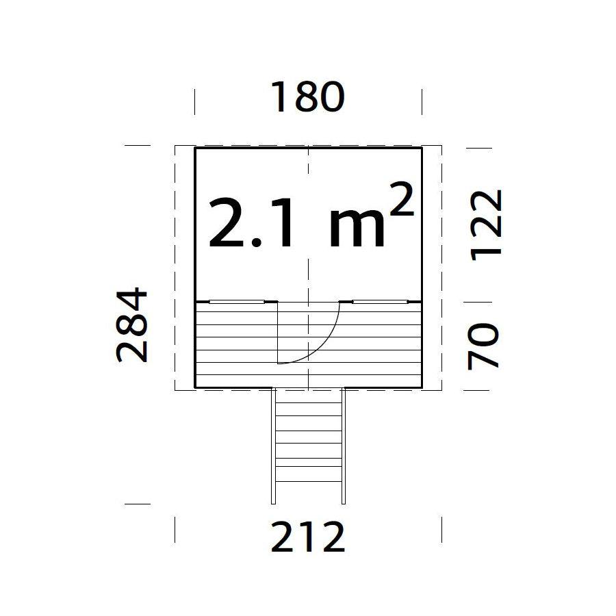 Lekstugor | Lekstuga Toby 2,1 m2