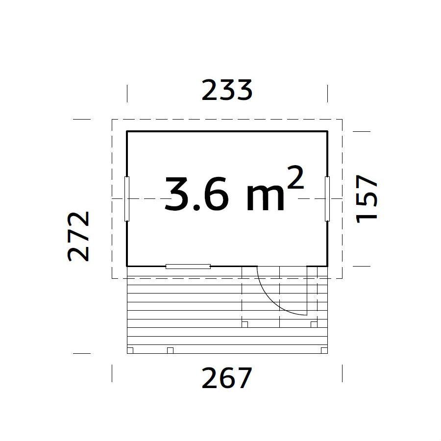 Lekstugor   Lekstuga Otto 3,6 m2
