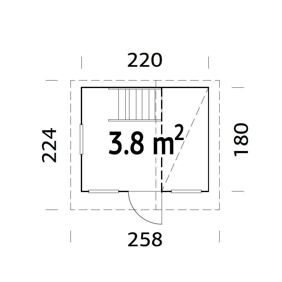 Lekstugor | Lekstuga Tom 3,8 m2
