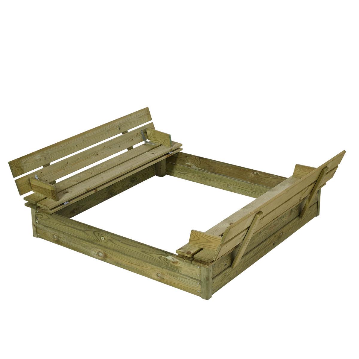 Sandlådor | Sandlåda 120 med bänk och lock