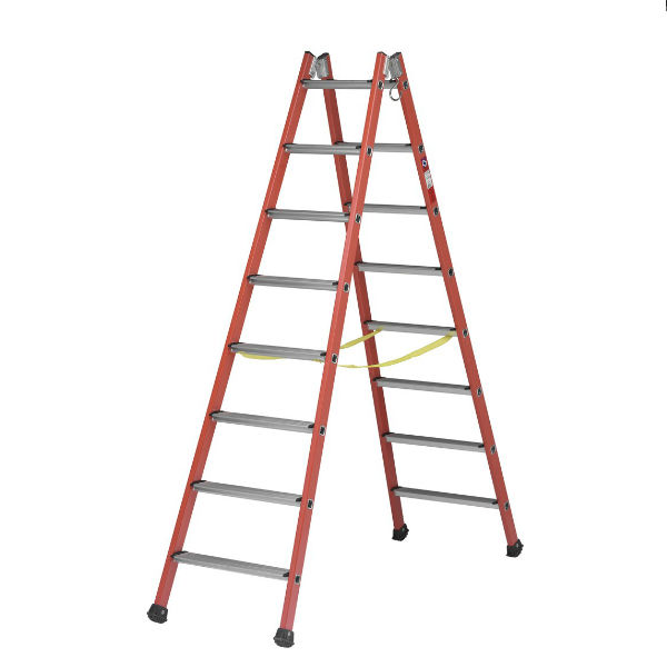 Trappstegar | Trappstege dubbel i glasfiber 4-14 steg