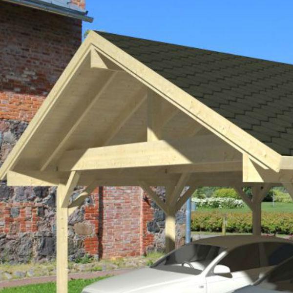 Carportar | Carport med sadeltak 20,6 m2