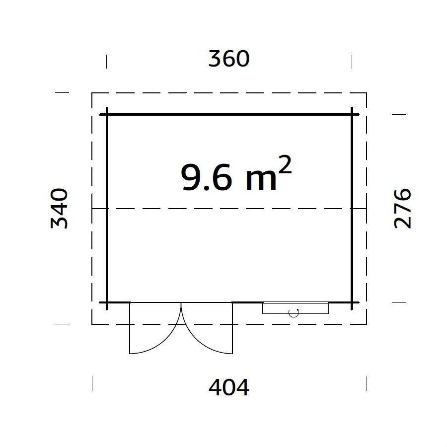 Friggebod & Förråd | Stuga 9,6 m2