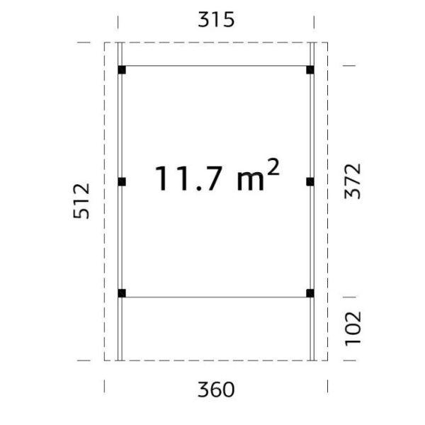 Carportar | Carport 11,7 m2