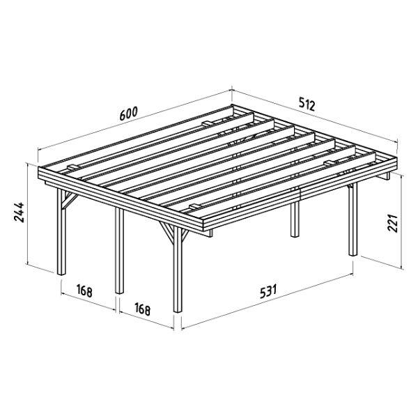 Carportar | Carport 20,6 m2