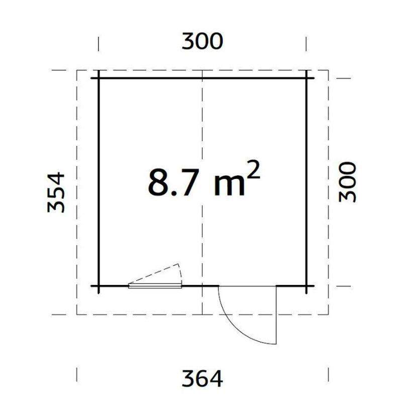 Friggebod & Förråd | Stuga 8,7 m2