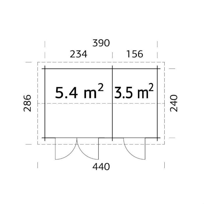 Friggebod & Förråd | Förråd 8,9 m2