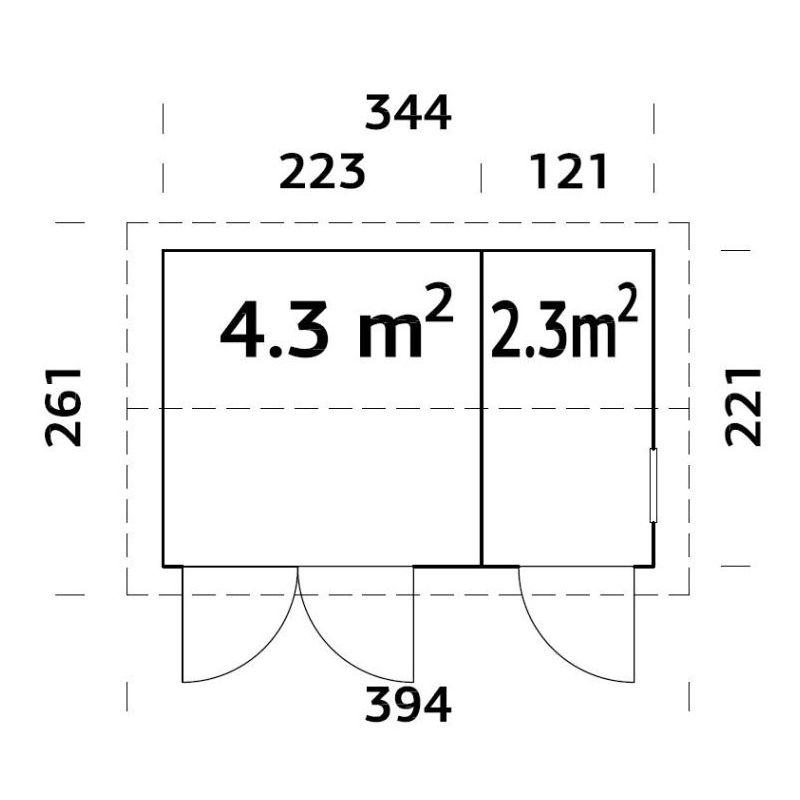 Friggebod & Förråd | Förråd 6,6 m2