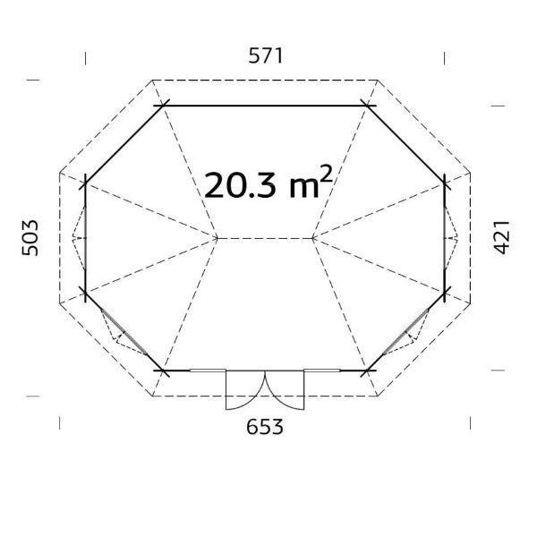 Lusthus | Lusthus 20,3 m2