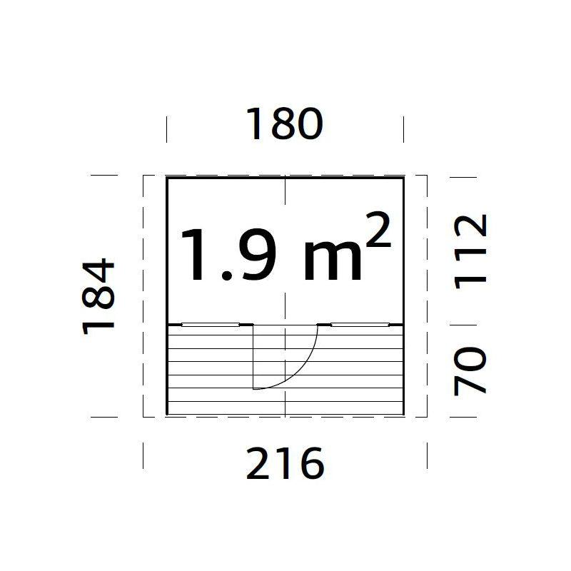 Lekstugor   Lekstuga Felix 1,9 m2