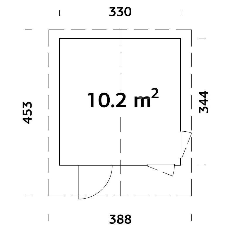 Friggebod & Förråd | Stuga 10,2 m2