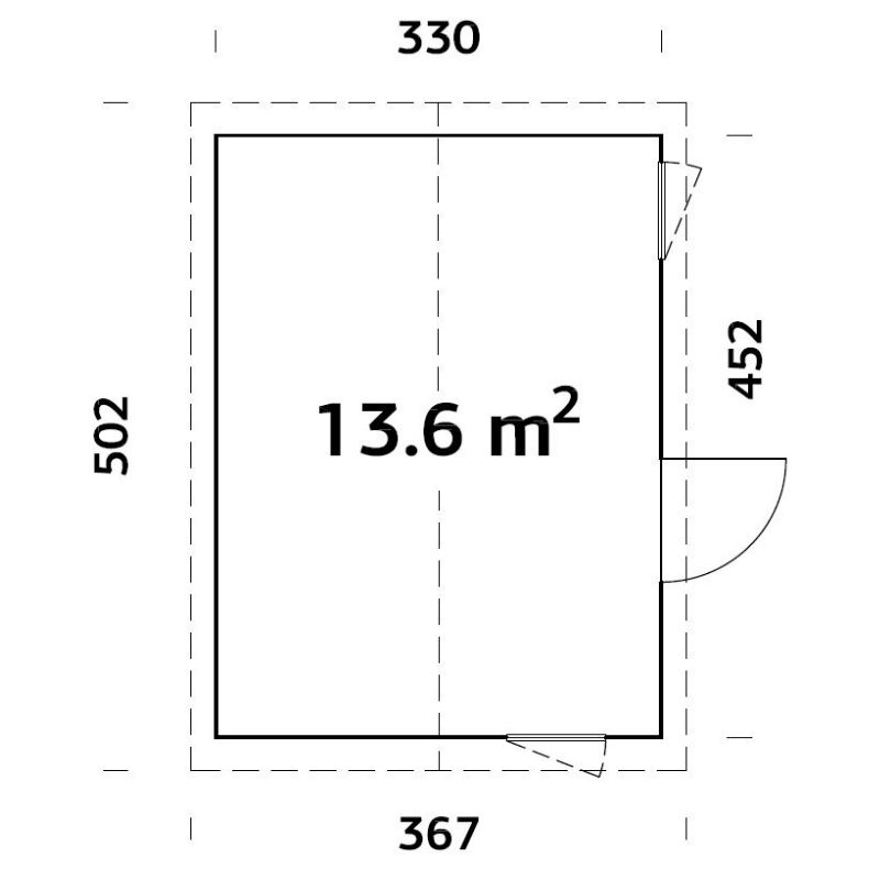 Friggebod & Förråd | Stuga 13,6 m2