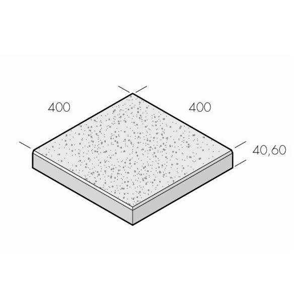 Trädgårdsplattor | Trädgårdsplatta Vision Struktur 400x400x40 Platina (Vit)