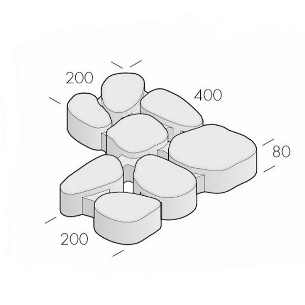 Trädgårdsplattor | Gräsarmering Birka 200/400x400x80 Naturgrå