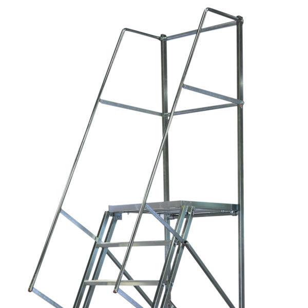 Arbetsplattformar   Rullbar arbetsplattform TMR Stål - Trappa Med Räcke 1,6M