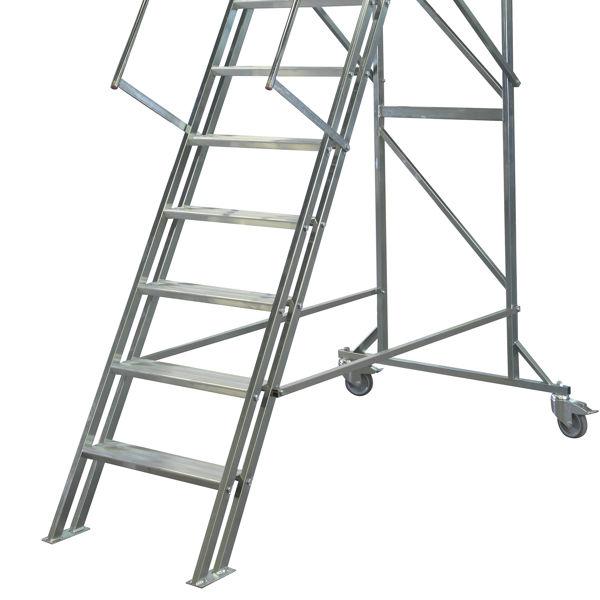 Arbetsplattformar | Rullbar arbetsplattform TMR Stål - Trappa Med Räcke 1,8M