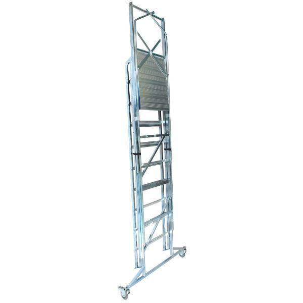 Arbetsplattformar | Rullbar arbetsplattform TMR Stål - Trappa Med Räcke 2,0M