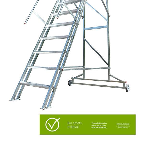 Arbetsplattformar | Mobil Trappa 180cm Bra Arbetsmiljöval