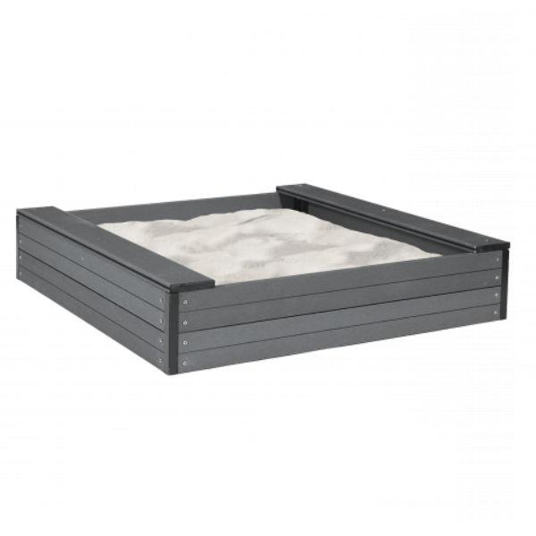 Sandlådor   Sandlåda 120x120 cm i underhållsfri komposit inkl sand