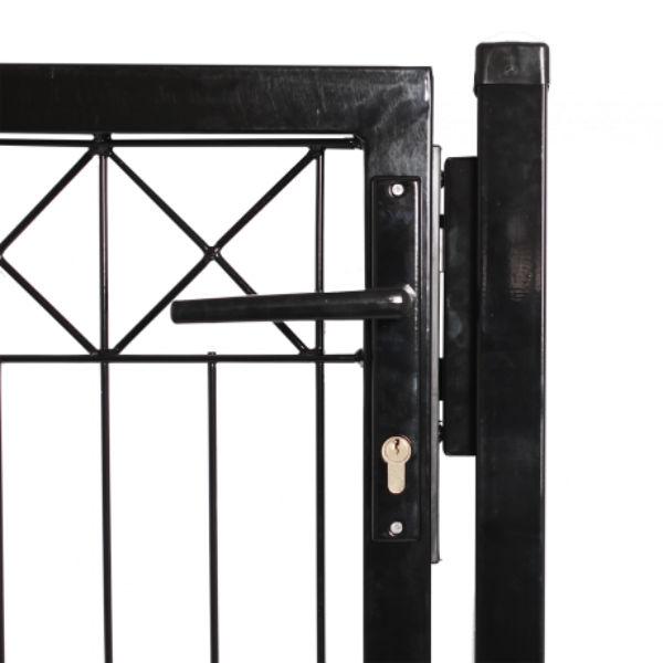 Staket & Räcken | Komplett svart dekorativt panelstängsel inkl grind