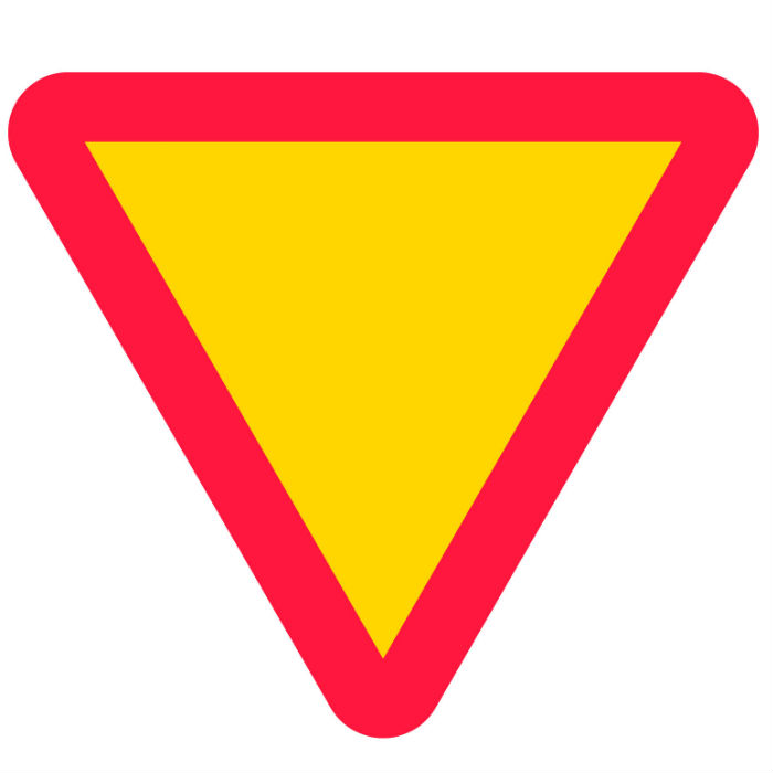 Trafikskyltar | Vägmärke Väjningsplikt
