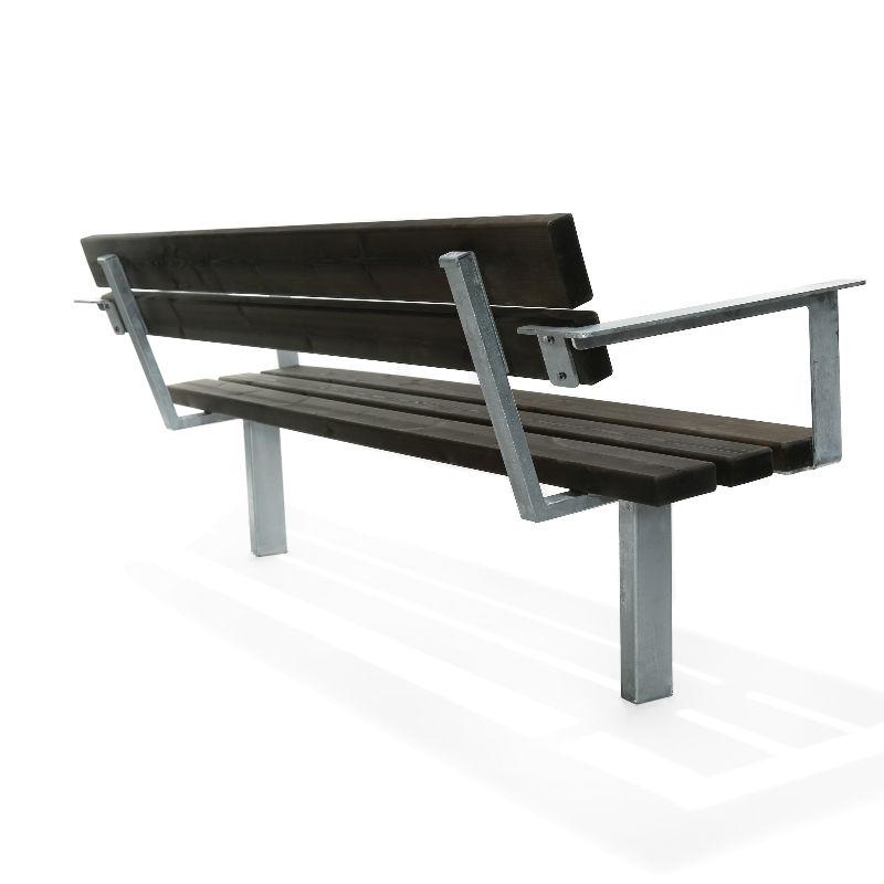 Parkbänkar | Soffa Ekeby, Återvunnen plast, Svart