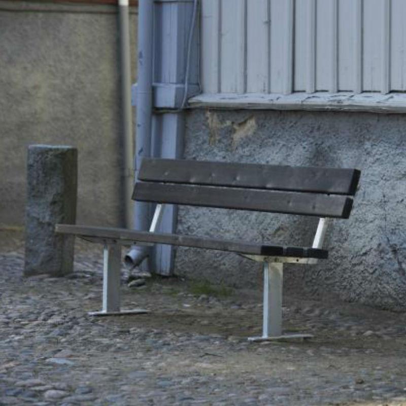 Parkbänkar | Soffa Ekeby, Återvunnen plast, Galvaniserad