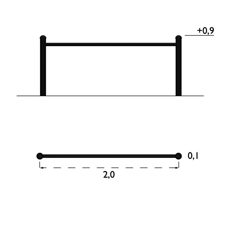 Staket & Räcken | Staket City Form, Rör