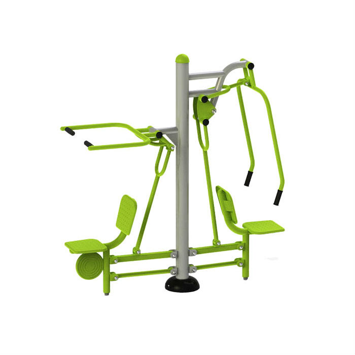 Utegym | Utomhusgym Dubbel Chest and Pull Chair