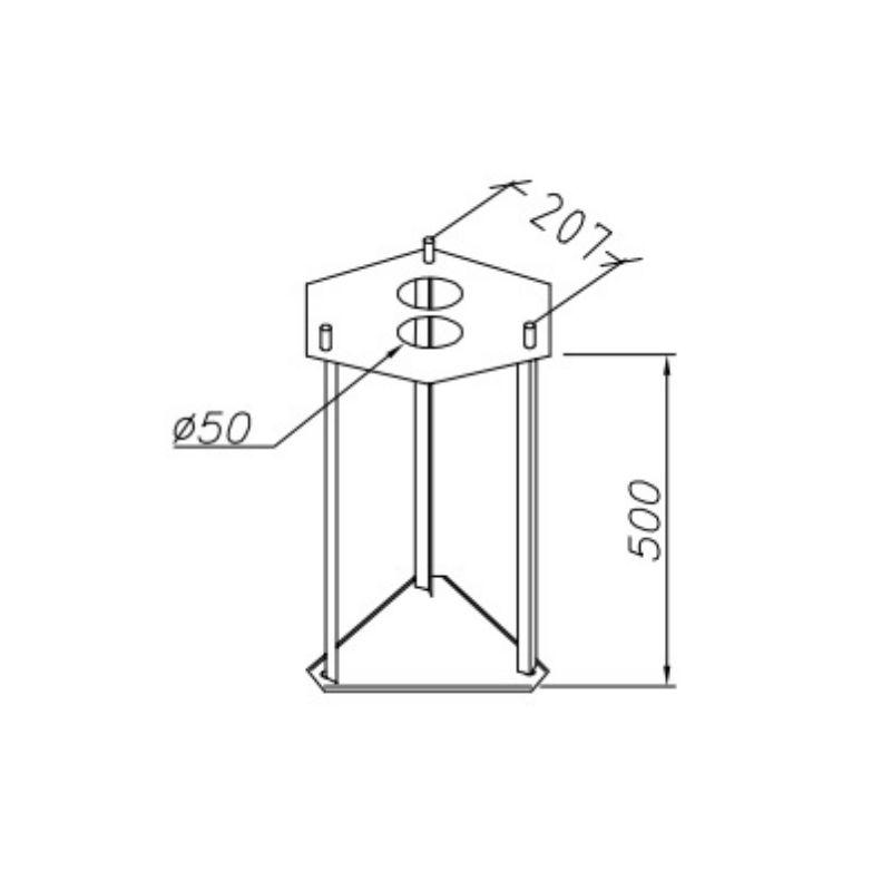 Belysningsstolpar | Markfäste för Klassisk stolpe