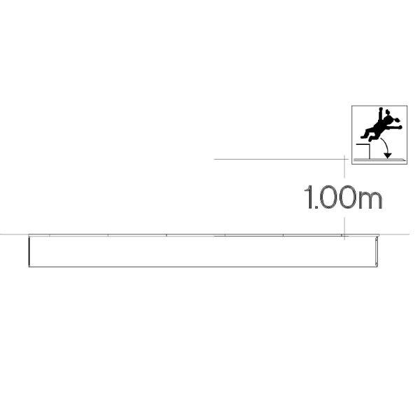 Studsmattor | Avlång Trampolin 1x4m