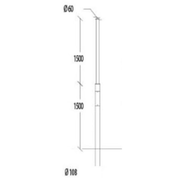 Belysningsstolpar | Stålstolpe Antracit 3-4,5M
