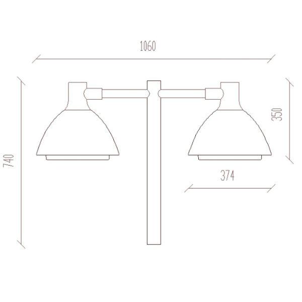 Armaturer | Ark Medi dubbel stolparmatur LED