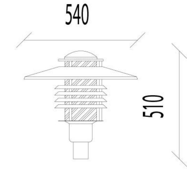 Armaturer | Arnäs stolparmatur galv E27