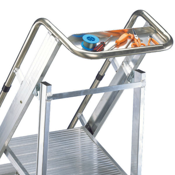 Arbetsplattformar | Trappstege Solid Plus 4- 12 med extra stor plattform 450x500 mm