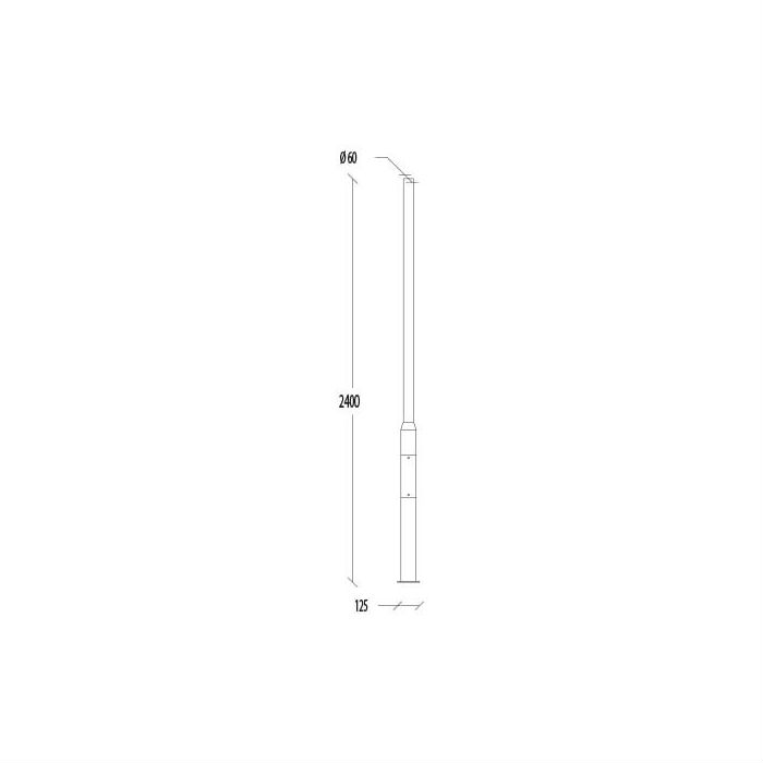 Belysningsstolpar | Stålstolpe 2,4 M