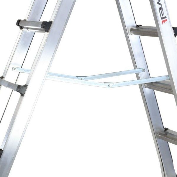 Trappstegar | Fristående teleskopisk A-stege Solid 3,41 m / 4 x 7 pinnar.